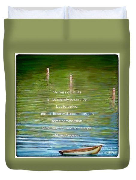 Skiff Boat Quote Duvet Cover