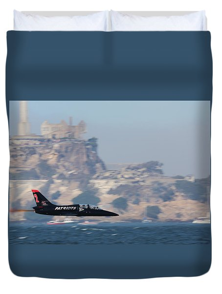 Duvet Cover featuring the photograph Skimming The Bay by John King