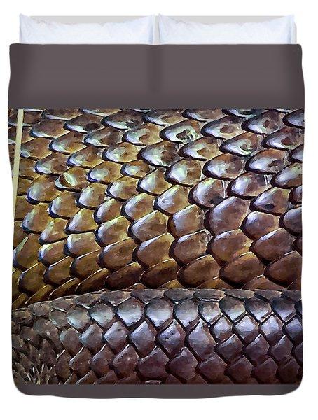 Duvet Cover featuring the photograph Skin Of Inland Taipan by Miroslava Jurcik