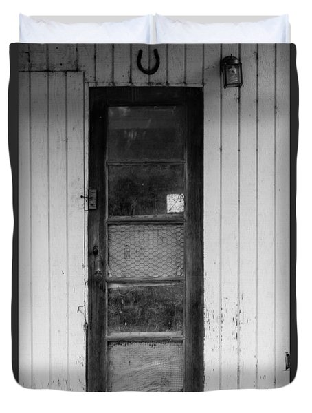 Duvet Cover featuring the photograph Skinny Door by Erin Kohlenberg