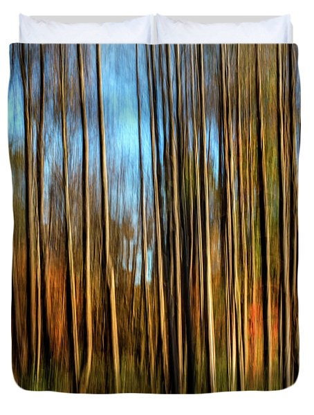 Skinny Forest Swipe Duvet Cover