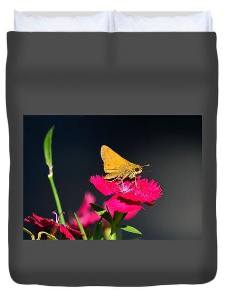 Skipper Butterfly Duvet Cover by Kathy Eickenberg