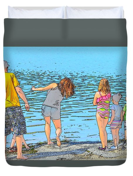 Skipping Stones Duvet Cover