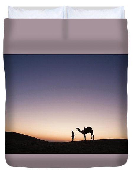 Skn 0860 Dawn At The Dunes Duvet Cover by Sunil Kapadia