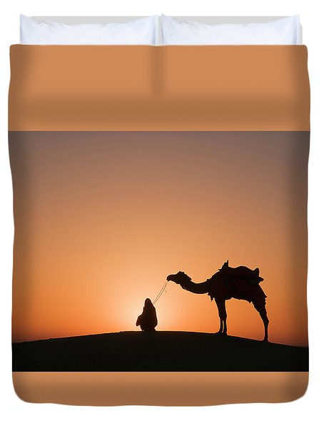 Skn 0893 The Halo Of Sunrise Duvet Cover by Sunil Kapadia