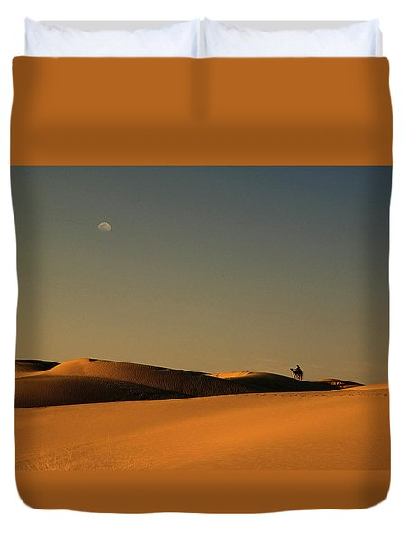 Skn 1117 Camel Ride At 6 Duvet Cover by Sunil Kapadia