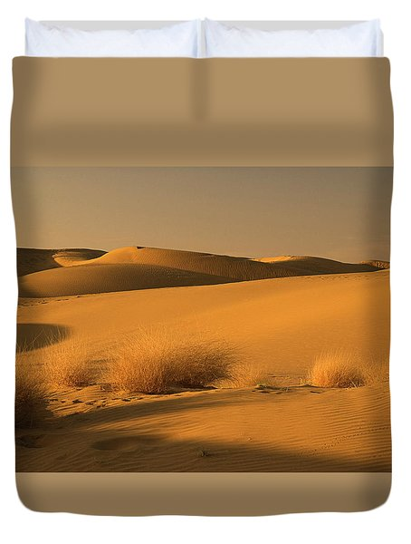Skn 1124 The Desert Landscape Duvet Cover by Sunil Kapadia