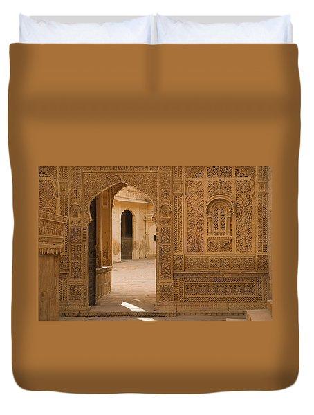 Skn 1317 Threshold Of Carvings Duvet Cover