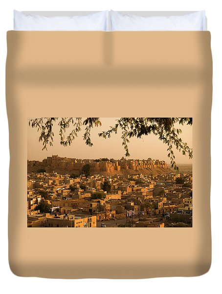 Skn 1334 Golden City Duvet Cover