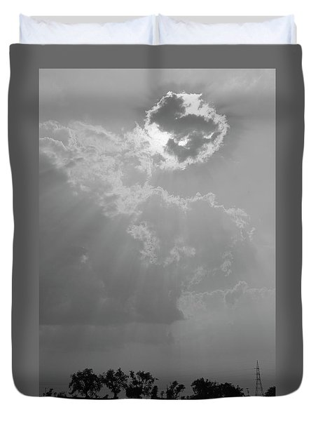 Skn 2170 Blessings Showered Duvet Cover by Sunil Kapadia