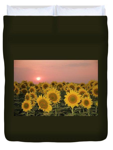 Skn 2179 Sunflower Landscape Duvet Cover