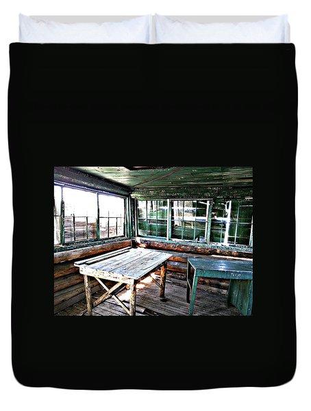 Skookum Butte Lookout Cabin  Duvet Cover