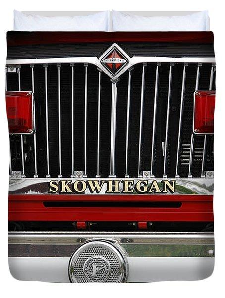 Skowhegan Maine Firetruck Grill Duvet Cover