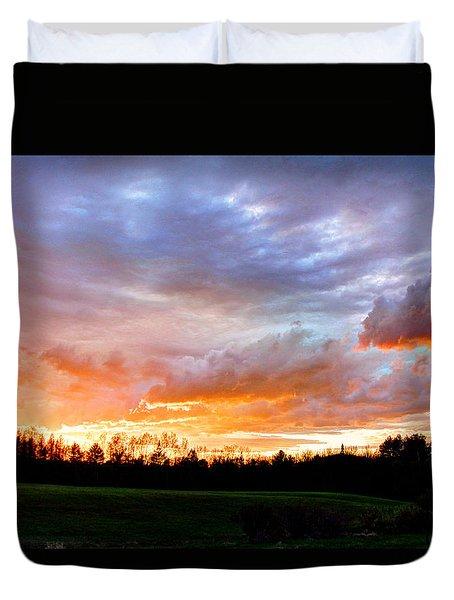 Skowhegan Sunset Duvet Cover