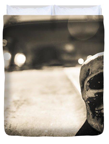 Skull Car Duvet Cover