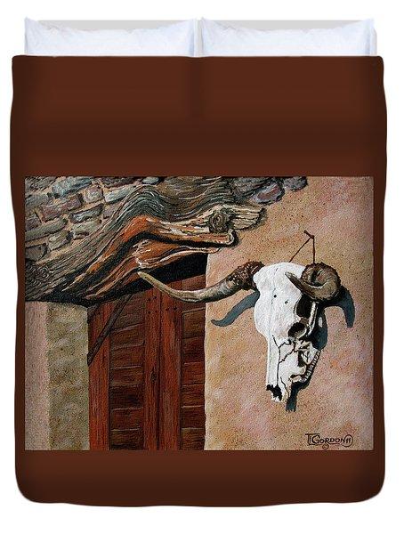 Skull En La Casa Duvet Cover
