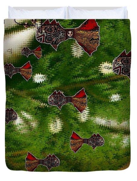 Skull Fish Duvet Cover by Pepita Selles