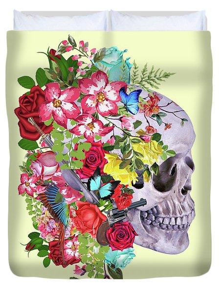 Skull Floral 2 Duvet Cover