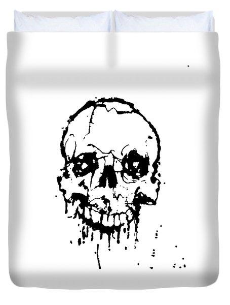 Skull Duvet Cover by H James Hoff