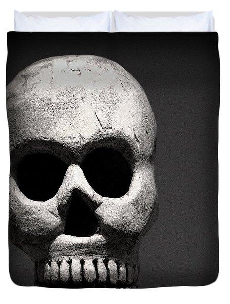 Skull Duvet Cover by Joseph Skompski