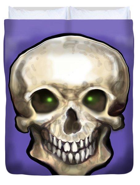 Skull Duvet Cover by Kevin Middleton