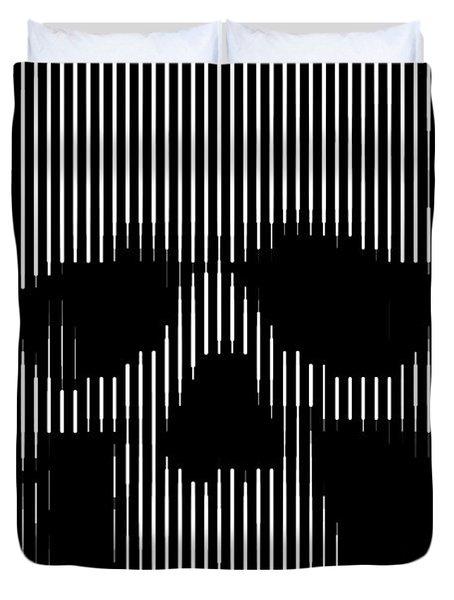 Skull Lines Duvet Cover
