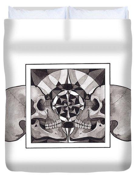 Skull Mandala Series Nr 1 Duvet Cover