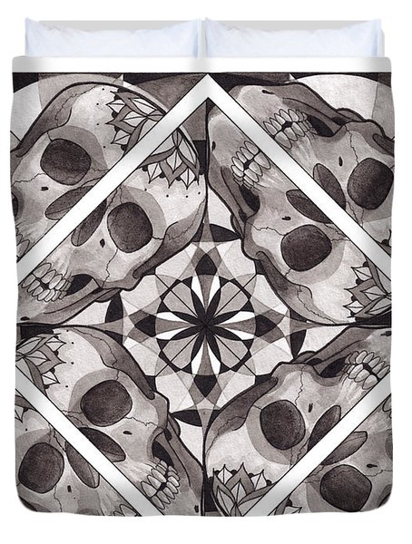 Skull Mandala Series Number Two Duvet Cover