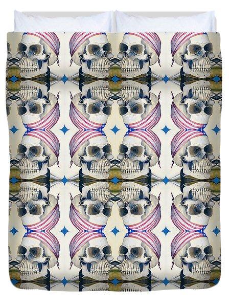 Skull Mirror Pattern Large Duvet Cover