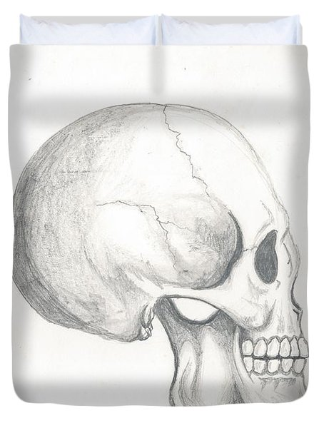 Skull Study Duvet Cover