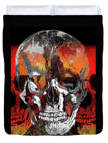 Skull Times Three Duvet Cover