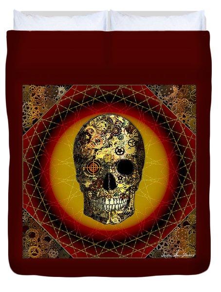 Skullgear Duvet Cover by Iowan Stone-Flowers