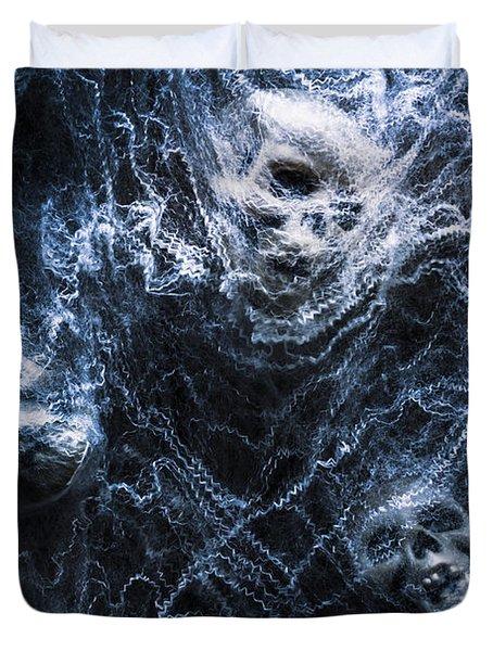 Skulls Tangled In Fear Duvet Cover