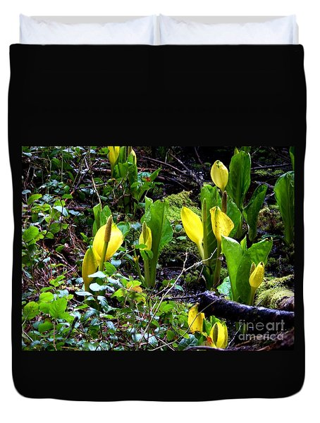 Skunk Cabbage Two Duvet Cover