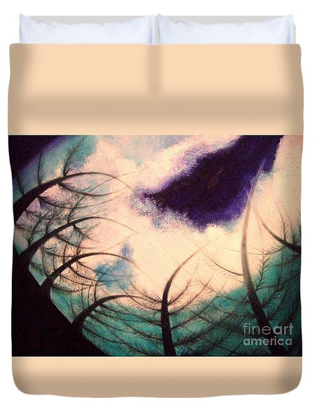 Sky And Land Symphony Duvet Cover