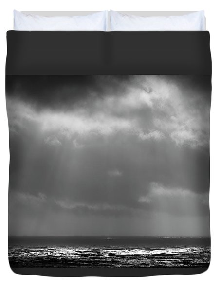 Duvet Cover featuring the photograph Sky And Ocean by Ryan Manuel