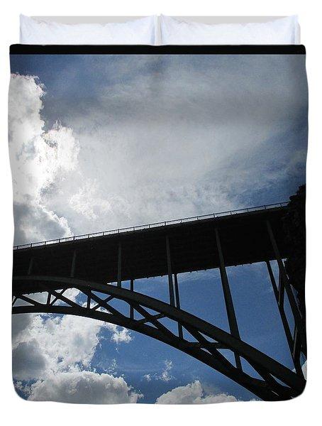 Sky Bridge Duvet Cover by Jeff Gater