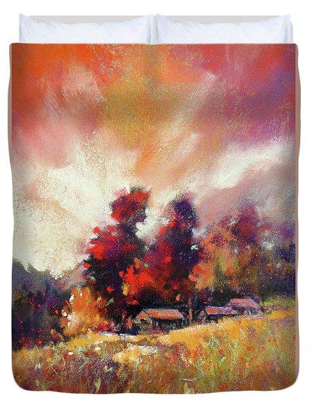 Sky Fall Duvet Cover by Rae Andrews