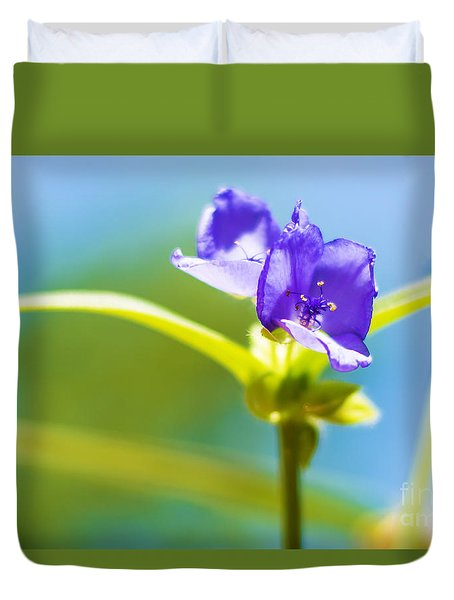 Sky Flowers Duvet Cover