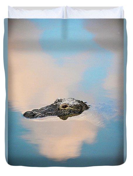 Sky Gator Duvet Cover
