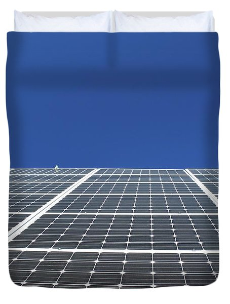 Sky Grid  Duvet Cover
