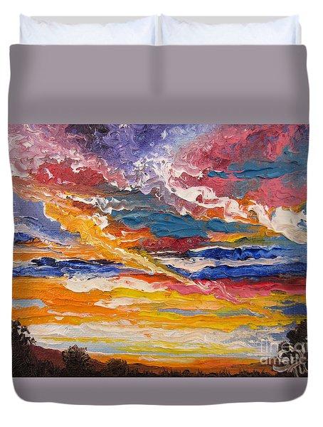 Sky In The Morning Duvet Cover