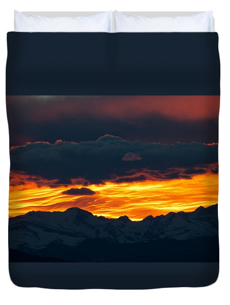 Sky Lava Duvet Cover by Colleen Coccia
