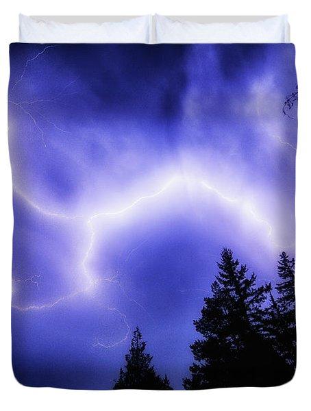 Sky Lightning Duvet Cover