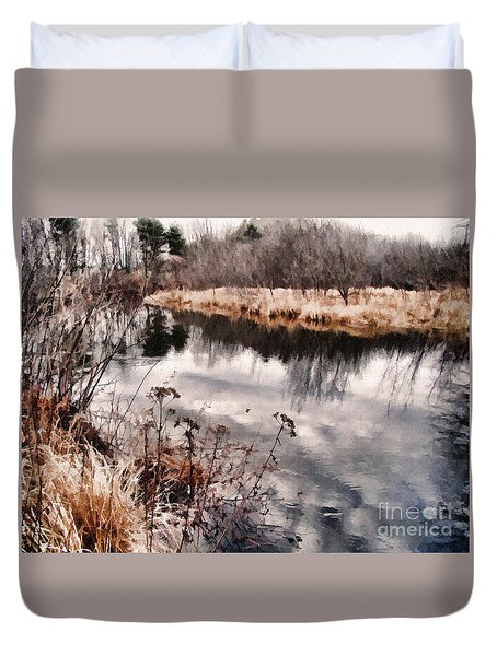 Sky Low Duvet Cover by Betsy Zimmerli