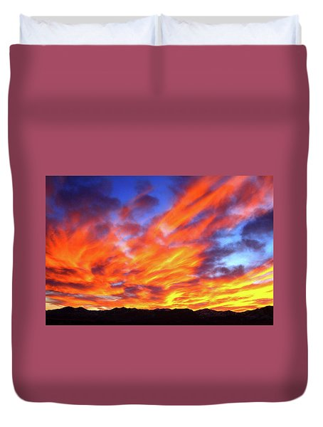 Sky On Fire #5 Duvet Cover