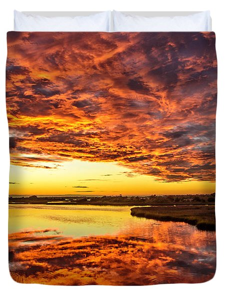 Sky On Fire Duvet Cover