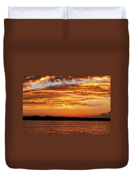 Sky On Fire Duvet Cover by Doug Long