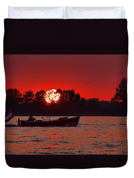 Sky On Fire Duvet Cover