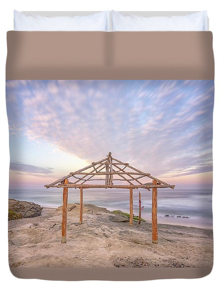 Sky Over The Shack Duvet Cover